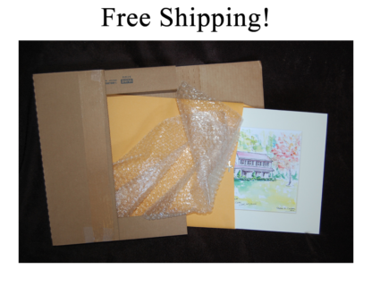Free Shipping Matted House Portraits