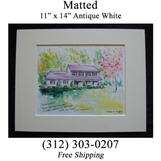 Matted House Portrait