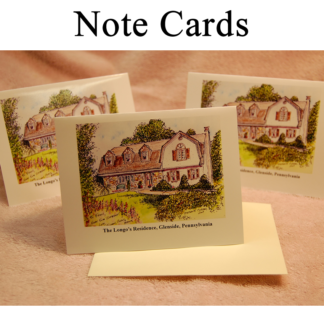 House Portrait Note Cards