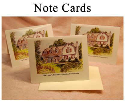 House Portrait Note Cards