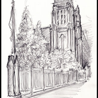 Mt. Carmel #143A Catholic Church pencil drawing & JPEG scans.