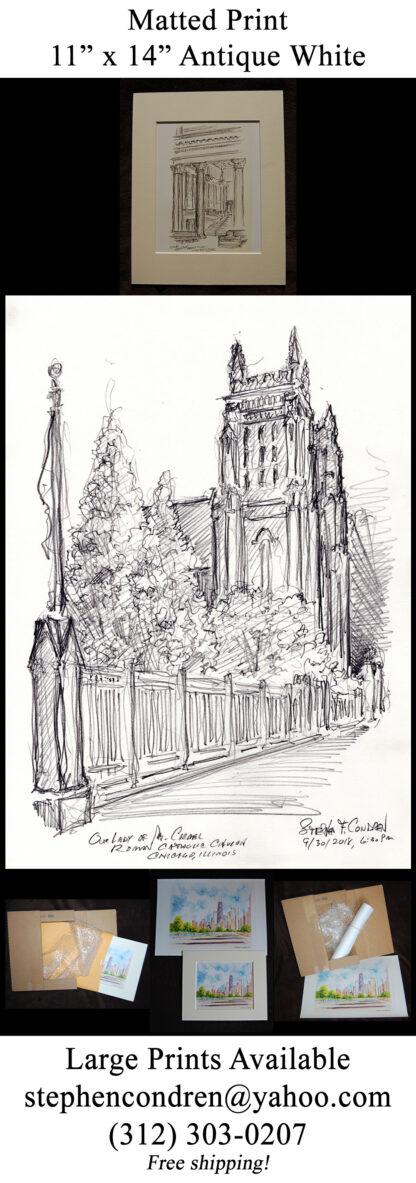 Mt. Carmel #143A Catholic Church pencil drawing & JPEG scans.