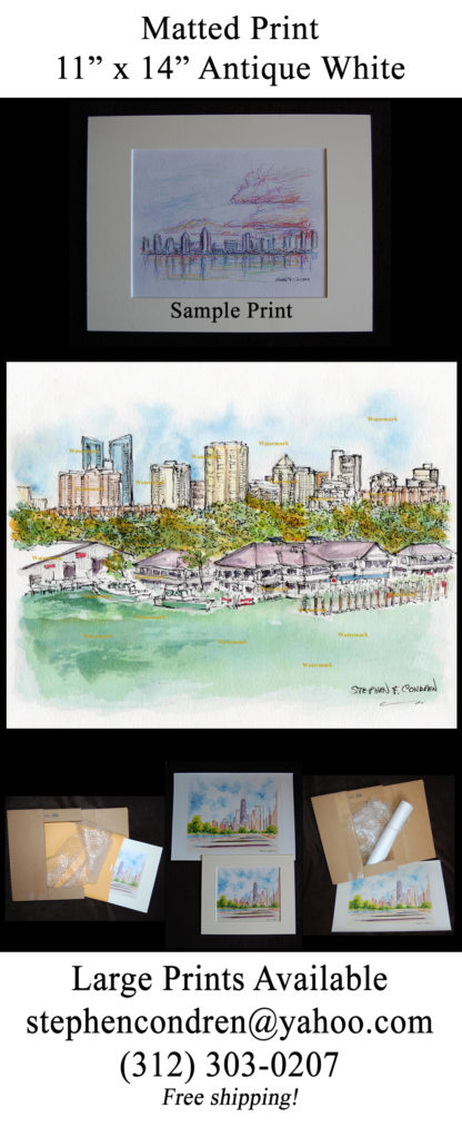 Ft. Lauderdale #584A pen & ink watercolor with JPEG scans.