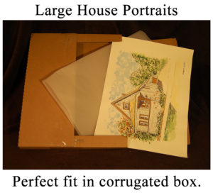 Large house portrait shipping box.