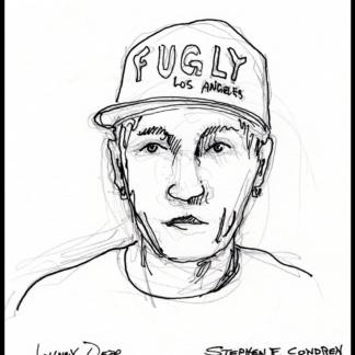 Johnny Depp #2428A creepy drawing.