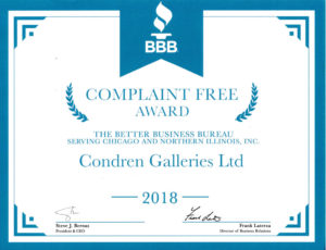 Better Business Bureau No Complaint Award