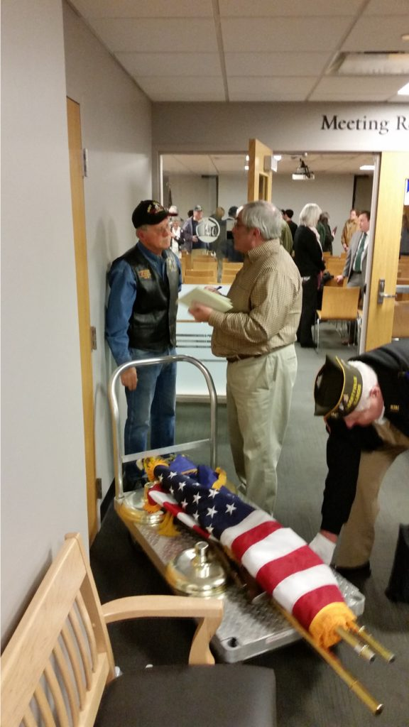 Congressman Bradley Schneider honors Vietnam War Veterans with Stephen F. Condren, of the USS Midway CV-41