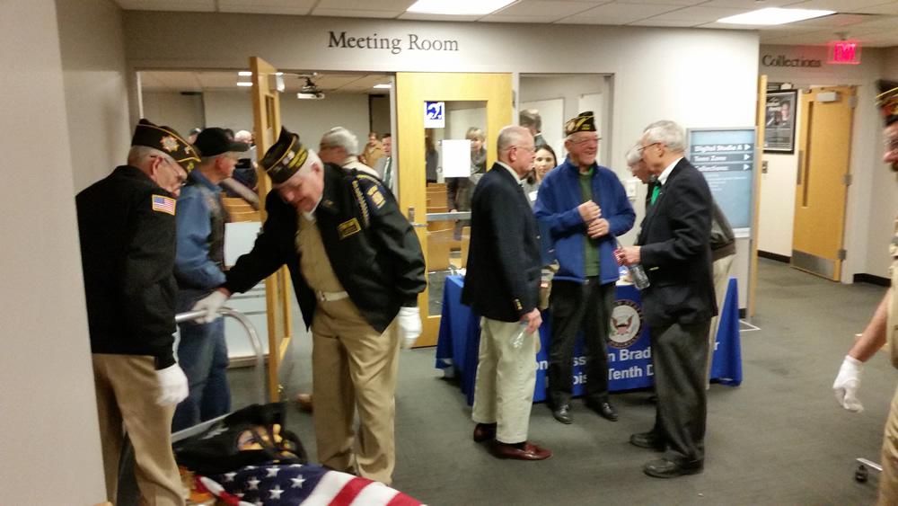 Congressman Bradley Schneider honors Vietnam War Veterans with Stephen F. Condren, of the USS Midway CV-41