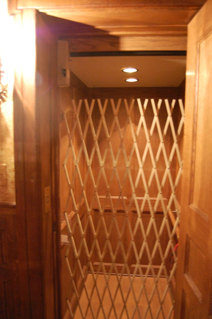 Elevator of the Montgomery home in Kenwood, Chicago.