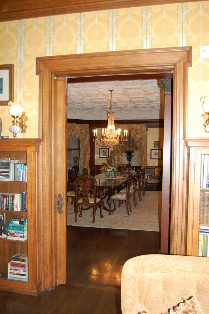 Dining Room of the Montgomery home in Kenwood, Chicago.