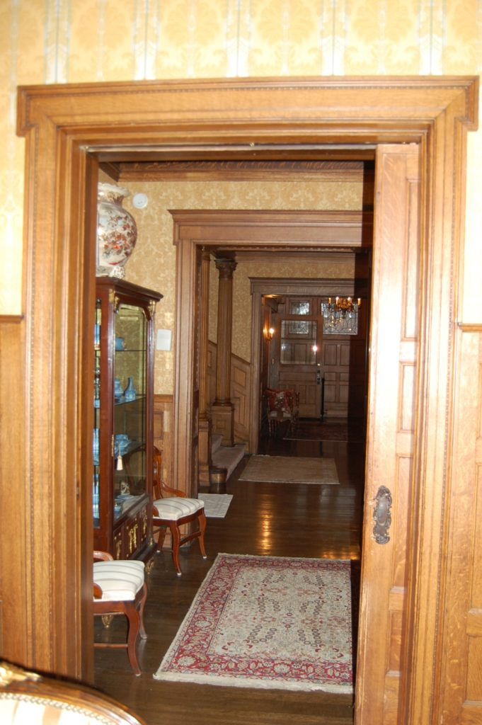 Entry hall of the Montgomery home in Kenwood, Chicago.