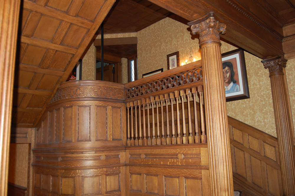Main Staircase of the Montgomery home in Kenwood, Chicago.