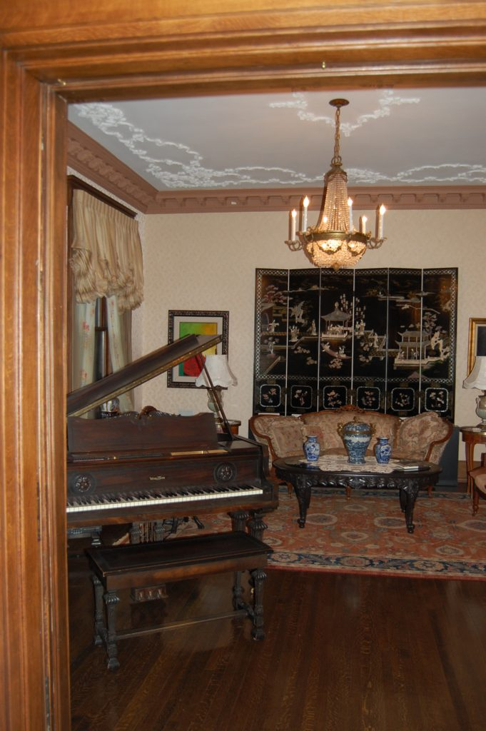 Living Room of the Montgomery home in Kenwood, Chicago.