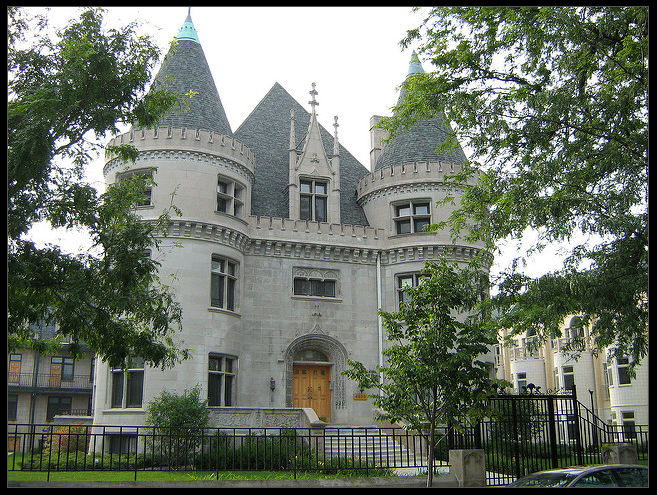 Dr. J. A. McGill Mansion on south Drexel Boulevard in Kenwood, Chicago.