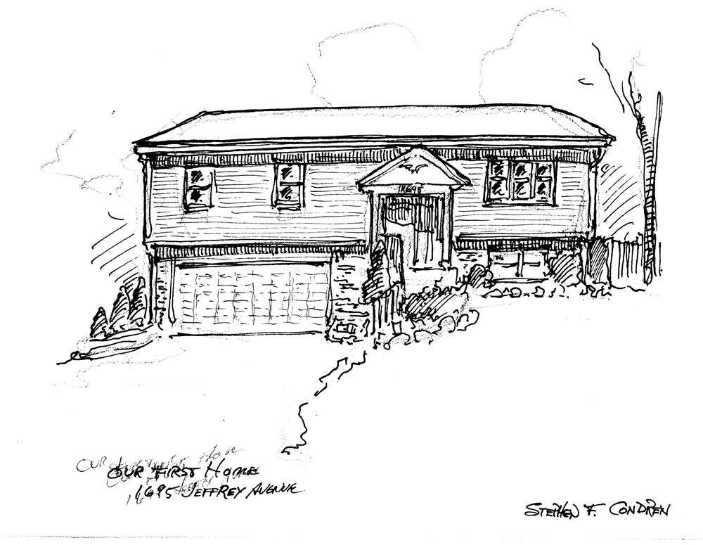 Pen & ink house portrait by Stephen F. Condren