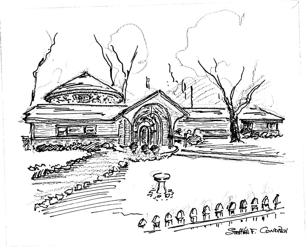 House portrait pen & ink sketch by artist Stephen F. Condren.