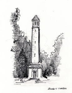 Denny Chimes #273Z pen & ink drawing with prints by Stephen F. Condren at Condren Galleries.