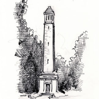 Denny Chimes Pen & ink