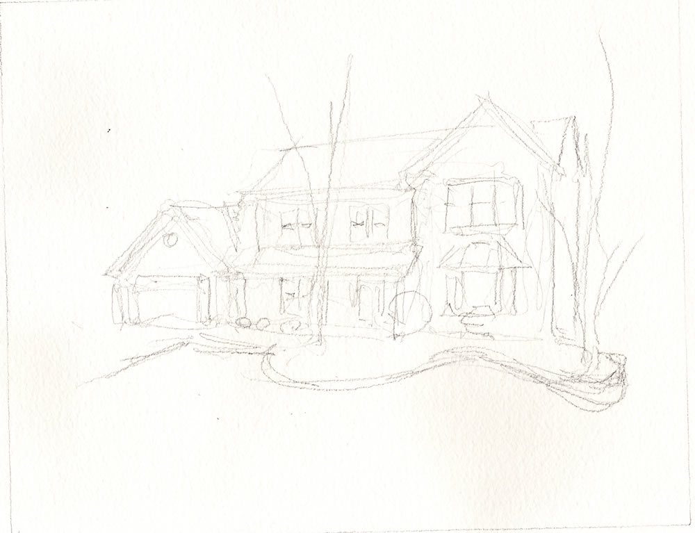 Lead Pencil house portrait #263Z.