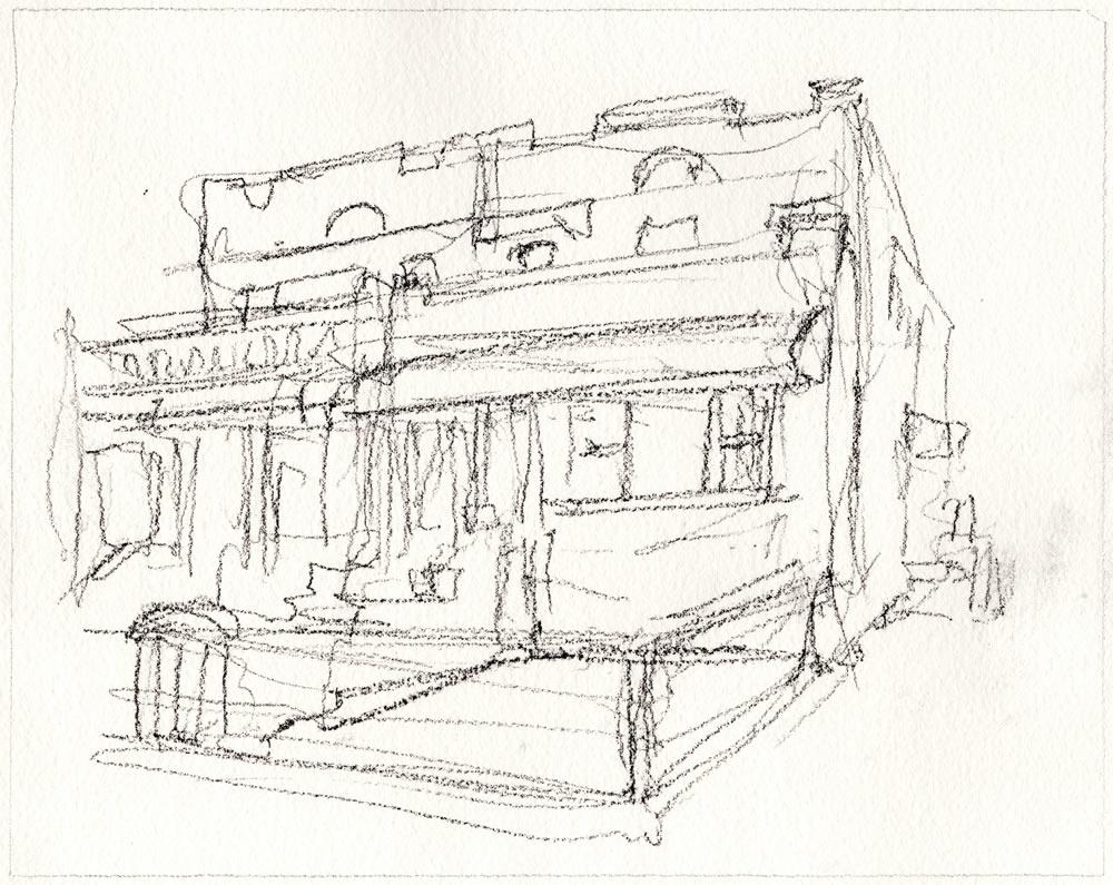 Pencil sketch rendering by artist Stephen F. Condren for Realtor Daniel Soldano.