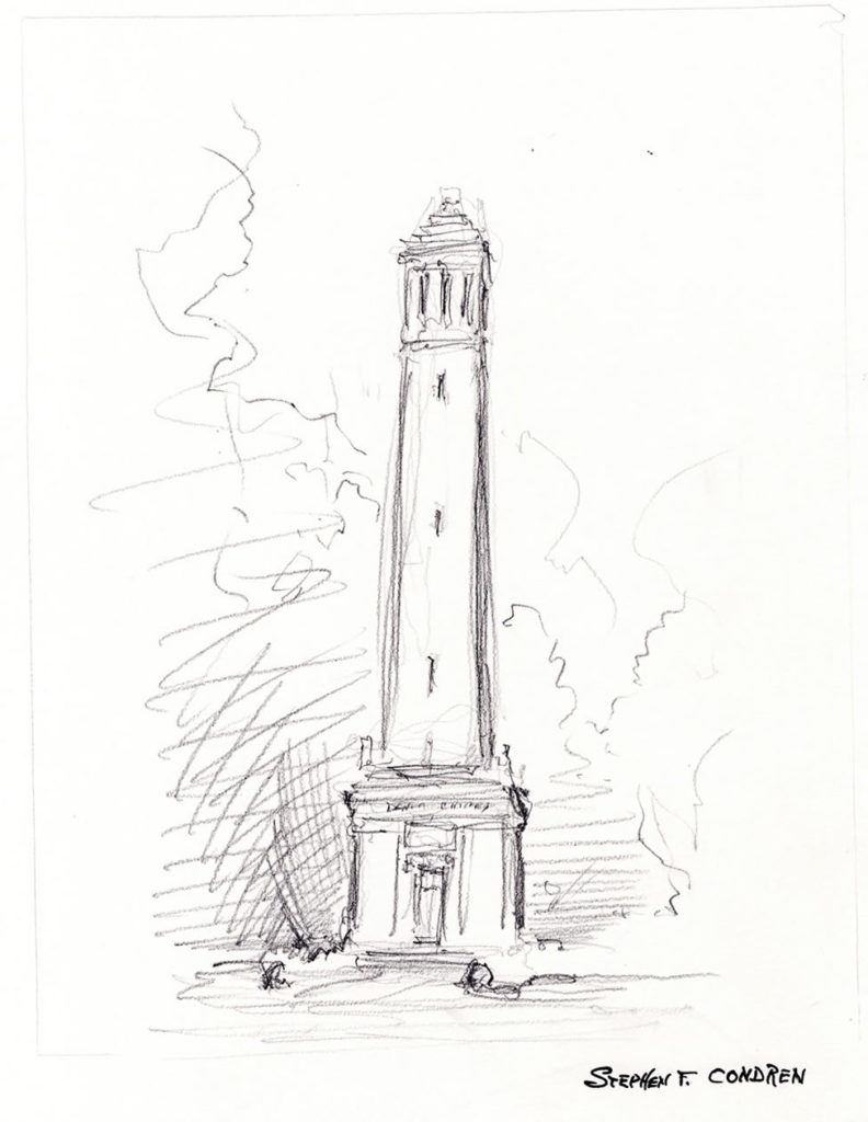 Denny Chines University Of Alabama Pencil Drawing.
