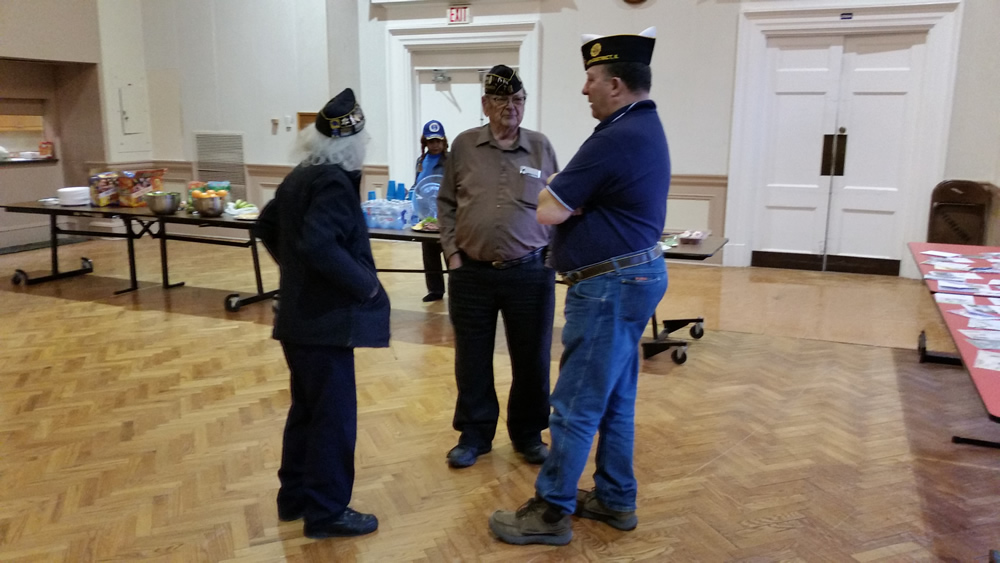 American Legion Officers hosting Bing at Lovell Health Care Center.