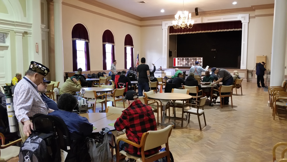 Bingo for veterans #278Z by American Legion at Great Lakes Naval Command, Condren Galleries.