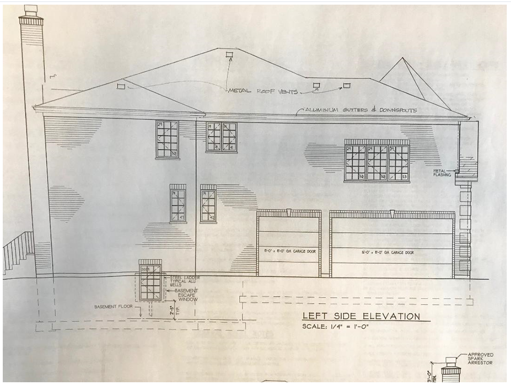 Left Elevation Working Drawing.