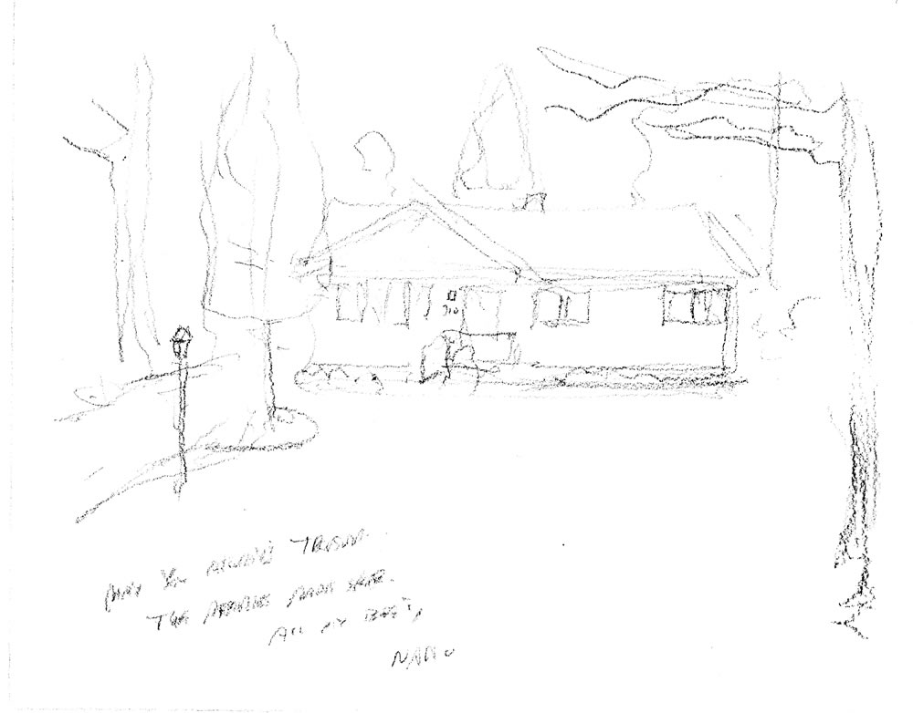 Pencil house portrait sketch by Stephen F. Condren