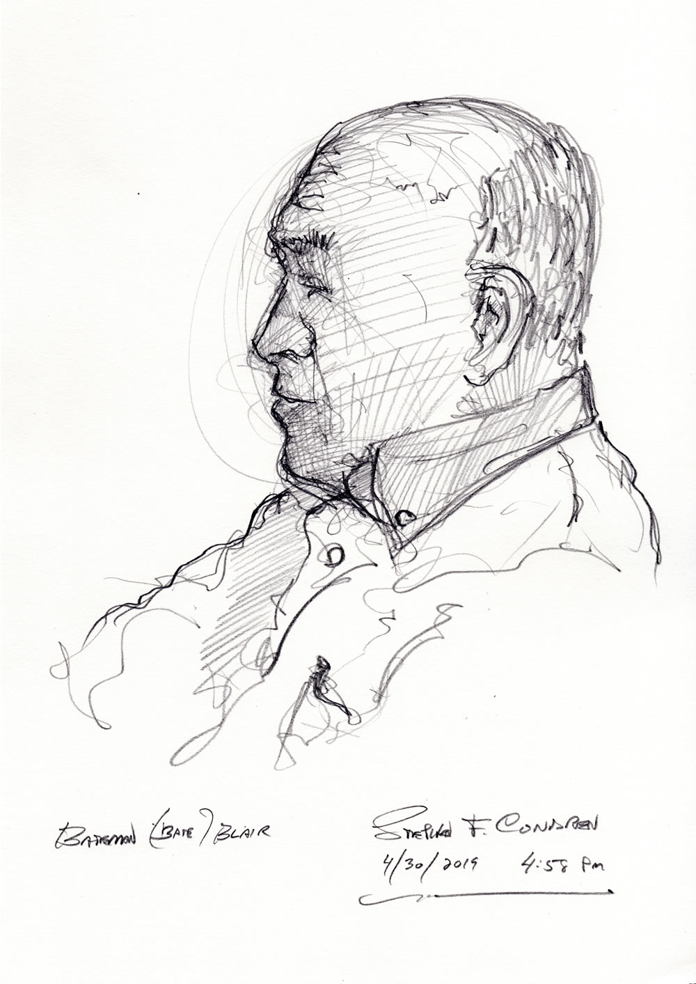 Bateman Blair #287Z drawing with prints by artist Stephen F. Condren at Condren Galleries.
