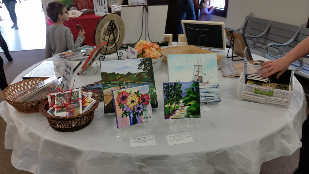 Artwork on display at May Fest.