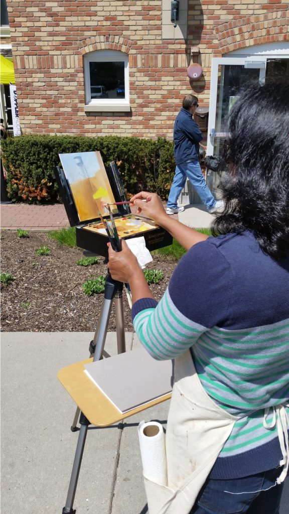 Artisty Aruna N. Sarode's paints for May Fest.