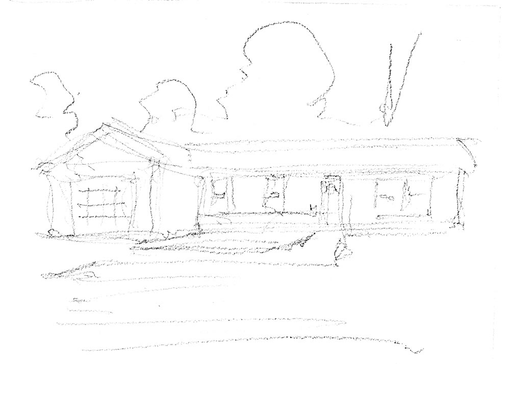 Pencil house portrait sketch by artist Stephen F. Condren