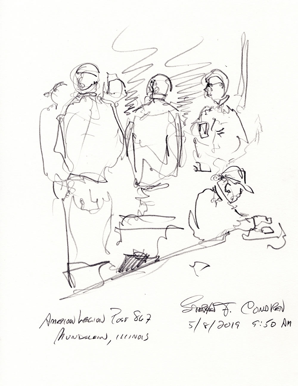 American Legion drawing #297Z pen & ink drawing with prints by artist Stephen F. Condren at Condren Galleries.