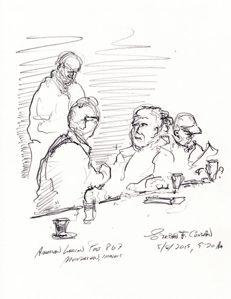 American Legion drawing #296Z pen & ink drawing with prints by artist Stephen F. Condren at Condren Galleries.