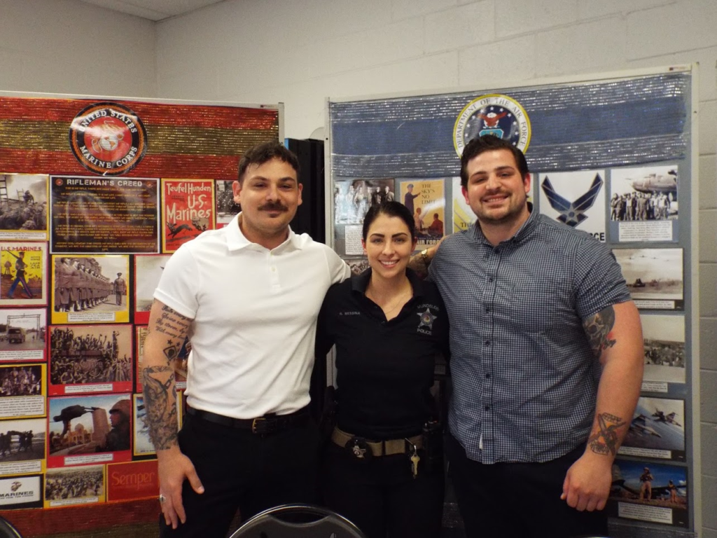 Police Officer Rachel Messina and colleagues.