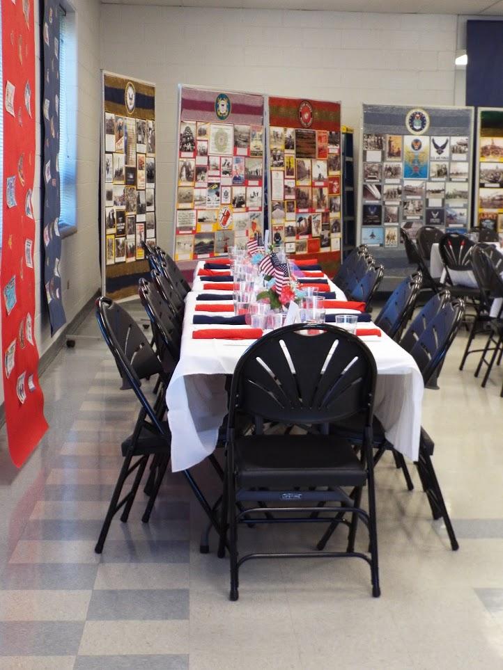 Table settings at Mundelein Police Veterans Dinner.