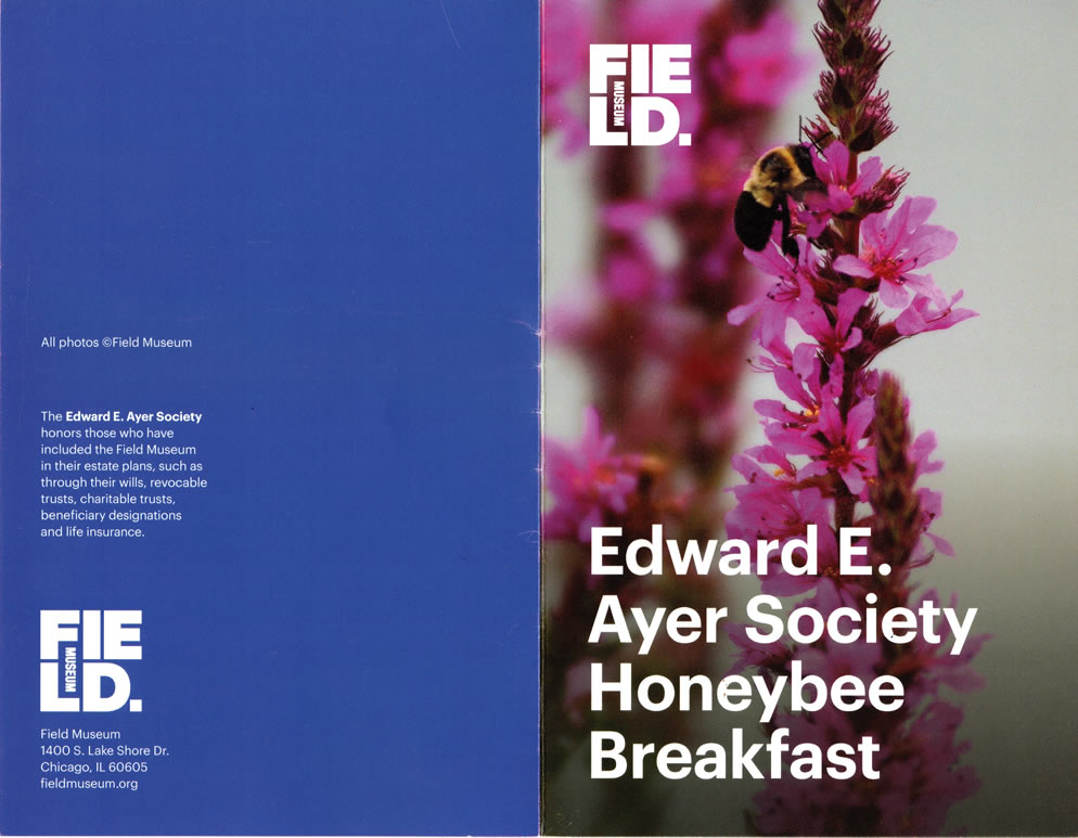 Ayer Society, of the Field Museum, Honeybee Breakfast with Stephen F. Condren.