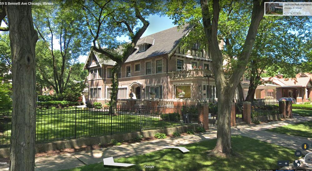 Gordon Sherman (Midas Muffler) house on Bennett Avenue, in the Jackson Park Highlands.