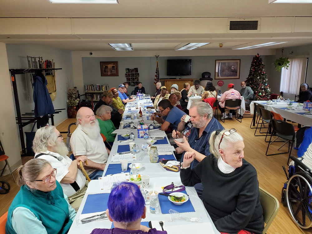 Senior Fest #615Z or Lake County Housing Authority Holiday Party by artist Stephen F. Condren.