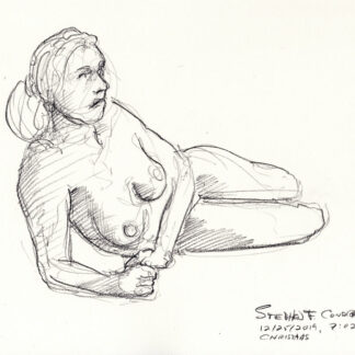 Hot nude female #145A pencil figure drawing by artist Stephen F. Condren, with LGBTQ gay lesbian prints.
