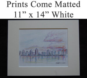"""Matted prints in the size of 11"""" x 14 for Condren Galleries."""