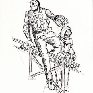 "Storming Capital ""Zip-Tie Guy"" pen & ink terrorist drawings of Eric Munchel and Lisa Eisenhart."