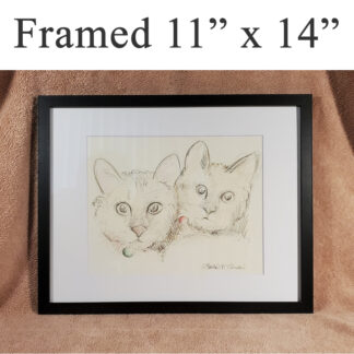 Framed animal and pet portrait.