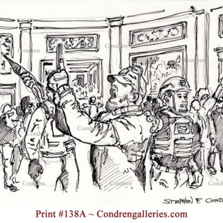 Storming Capital Rotunda pen & ink terrorist drawing is popular because of it's view of the traitor.