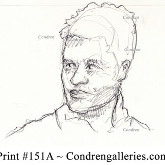 Tom Brady 151A pencil celebrity portrait with a nice smile and hatching for shading.