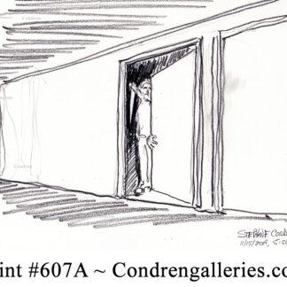 The Predator #607 pencil stalker drawing by artist Stephen Condren.