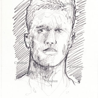 Tom Brady 202A pencil celebrity drawing by artist Stephen Condren.