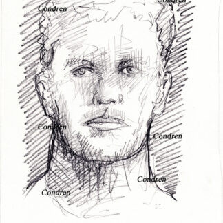 Tom Brady 203A Pencil Celebrity Drawing by artist Stephen Condren.