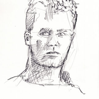Tom Brady 182A pencil celebrity drawing by artist Stephen Condren.